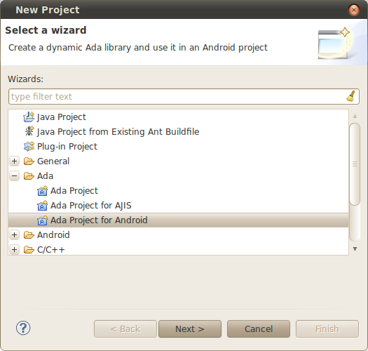 12  Using AJIS for Android — GNATbench for Eclipse User's Guide 20 0